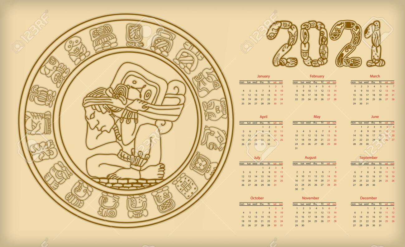 Mayan Calendar 2021 Predictions Printable Template