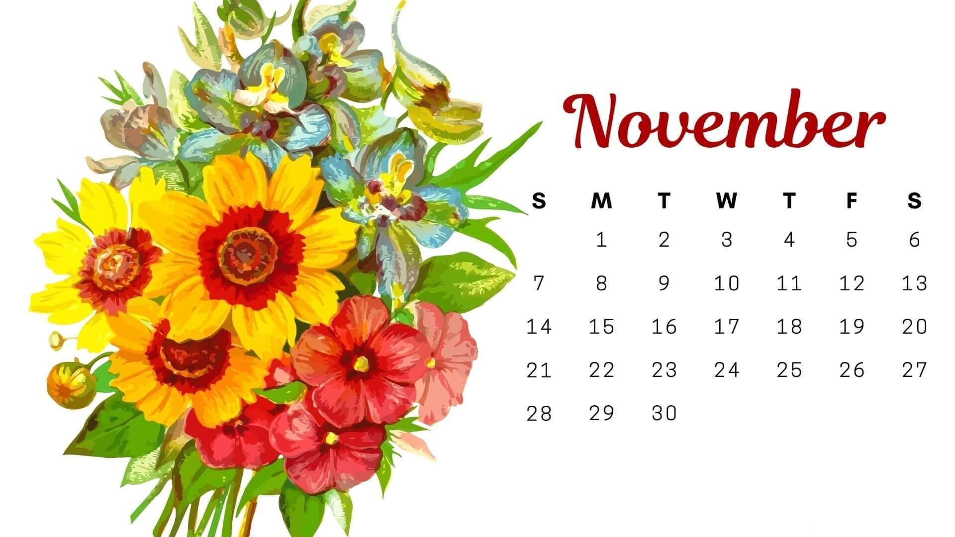 November 2021 Calendar PDF, Word, Excel Template