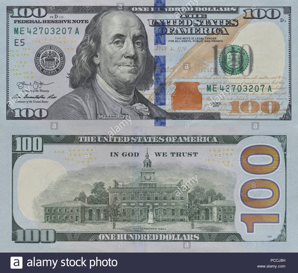 100 Dollar Bill Printable Free