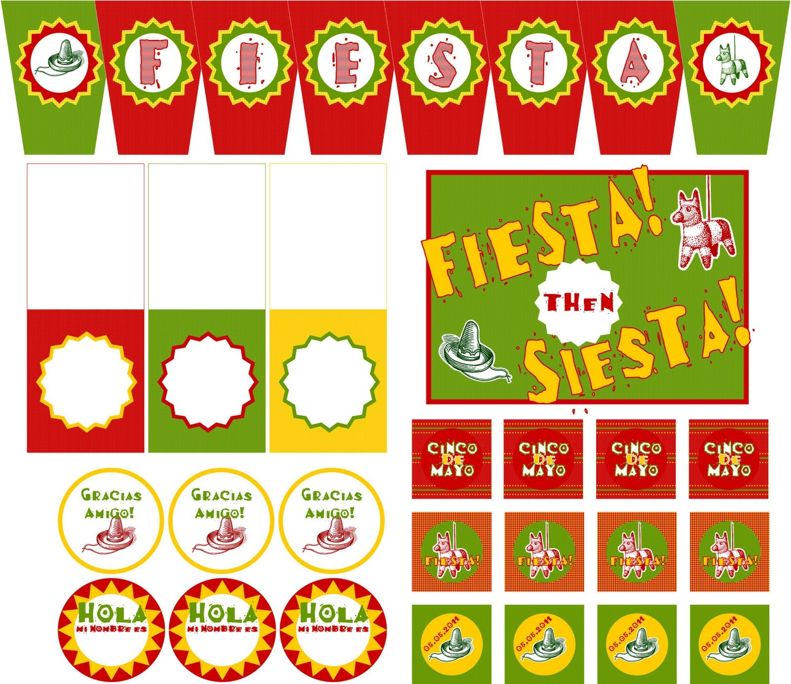 Free Printable Mexican Party Decorations