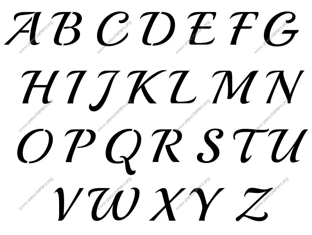 S Cursive Script 3 Inch A Z Uppercase Lowercase
