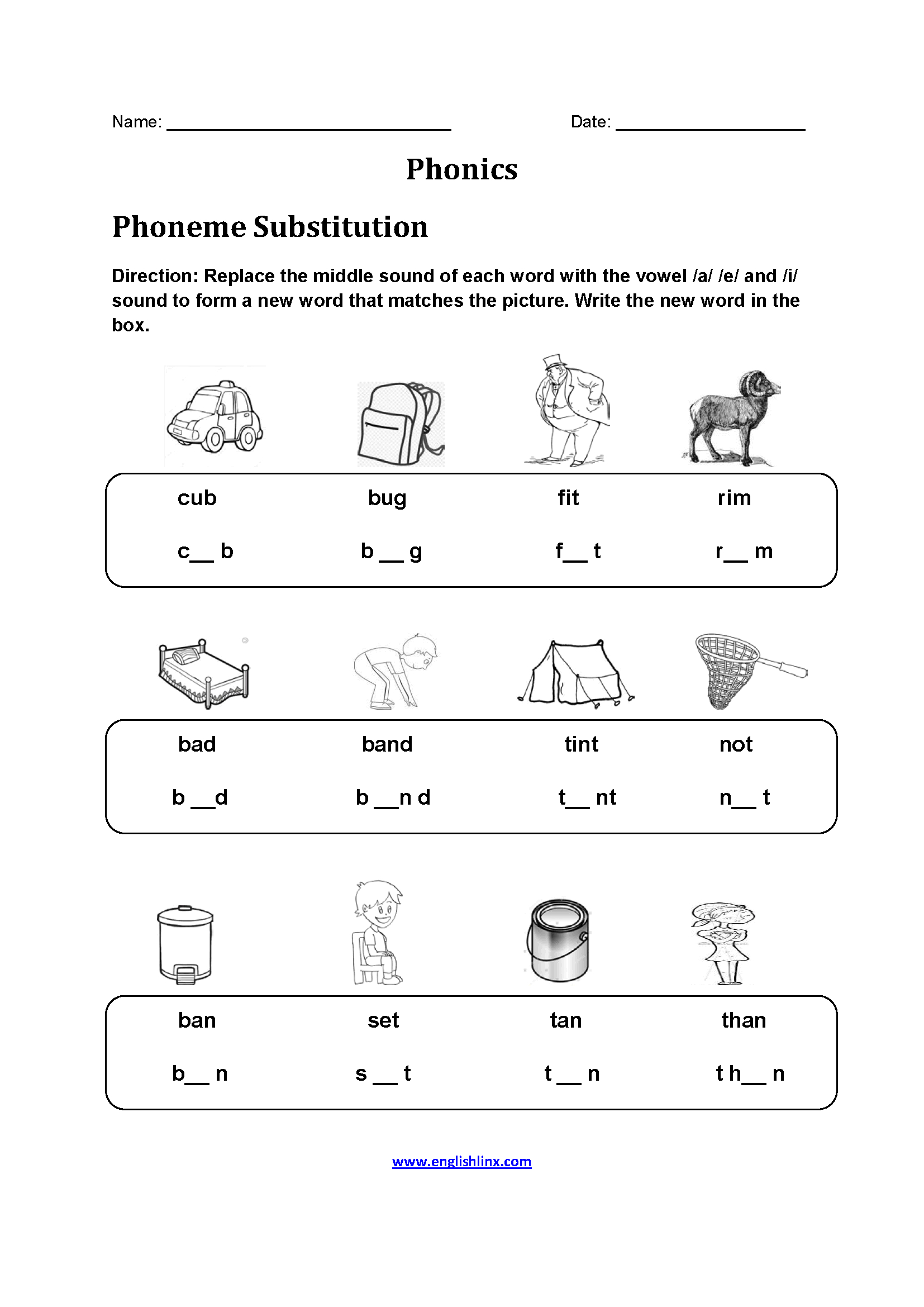Free Printable Phonics Worksheets For 4th Grade