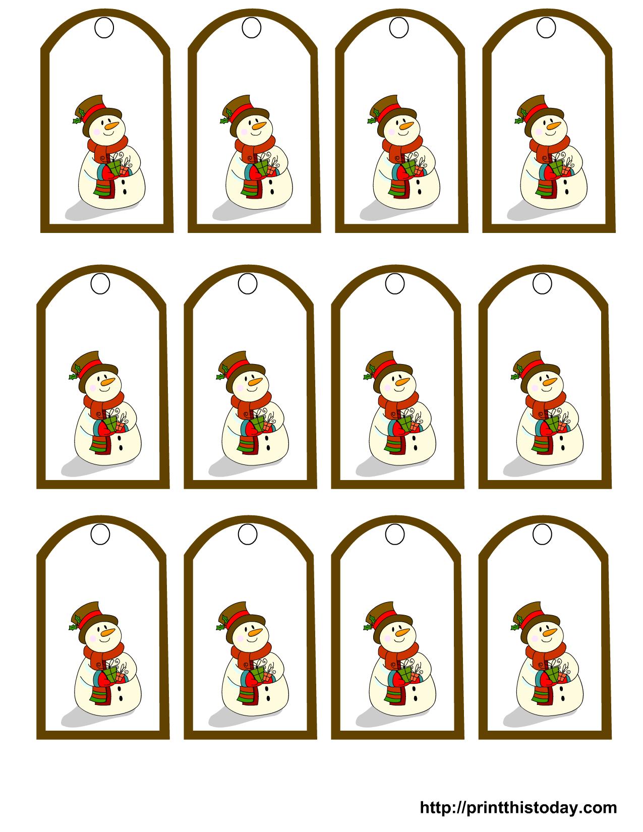 Free Printable Snowman Stationery