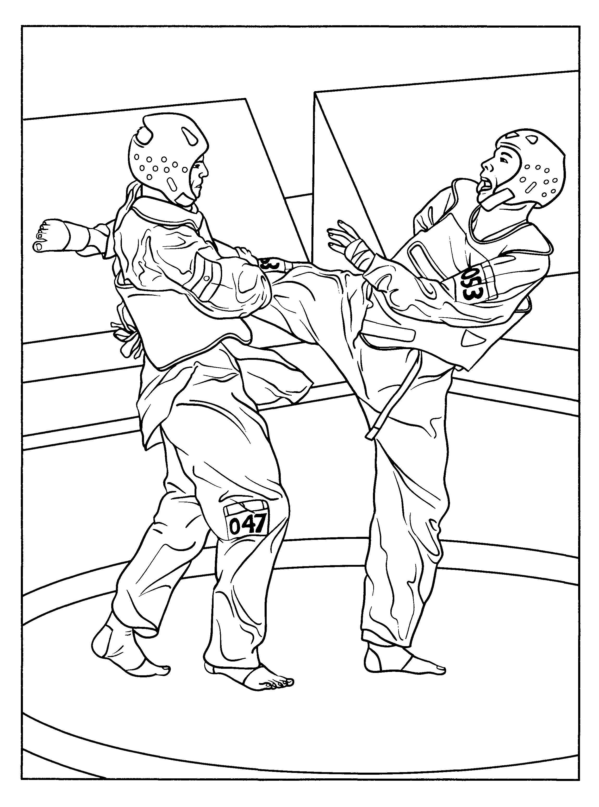 Free Printable Karate Coloring Pages