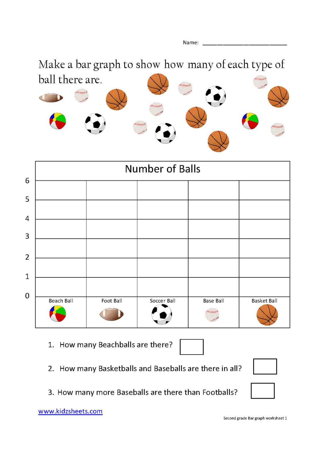 Free Printable Bar Graph Worksheets For 2nd Grade