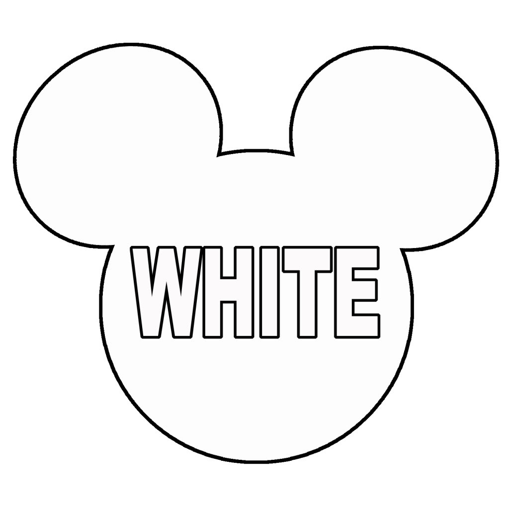 012 Mickey Mouse Template Ears Printable Coloring Pages