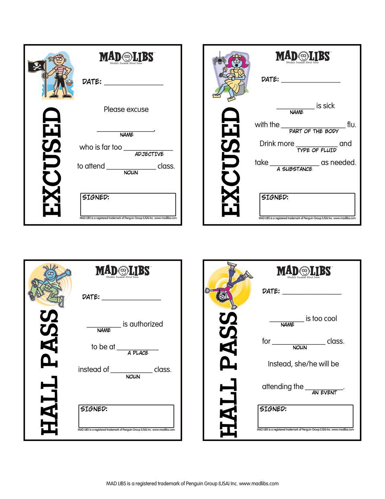 Bathroom Passes Printable