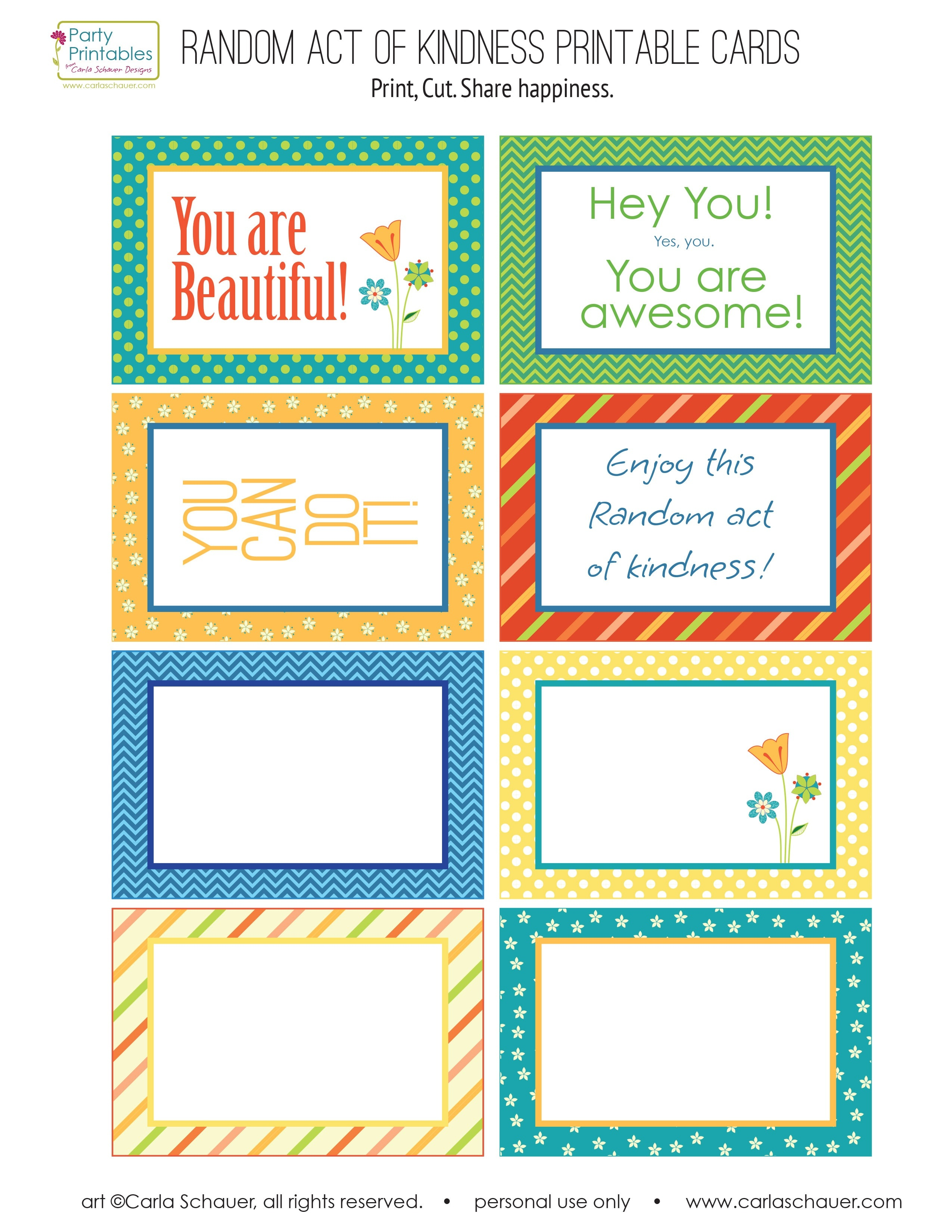 Kindness Cards Printable Free