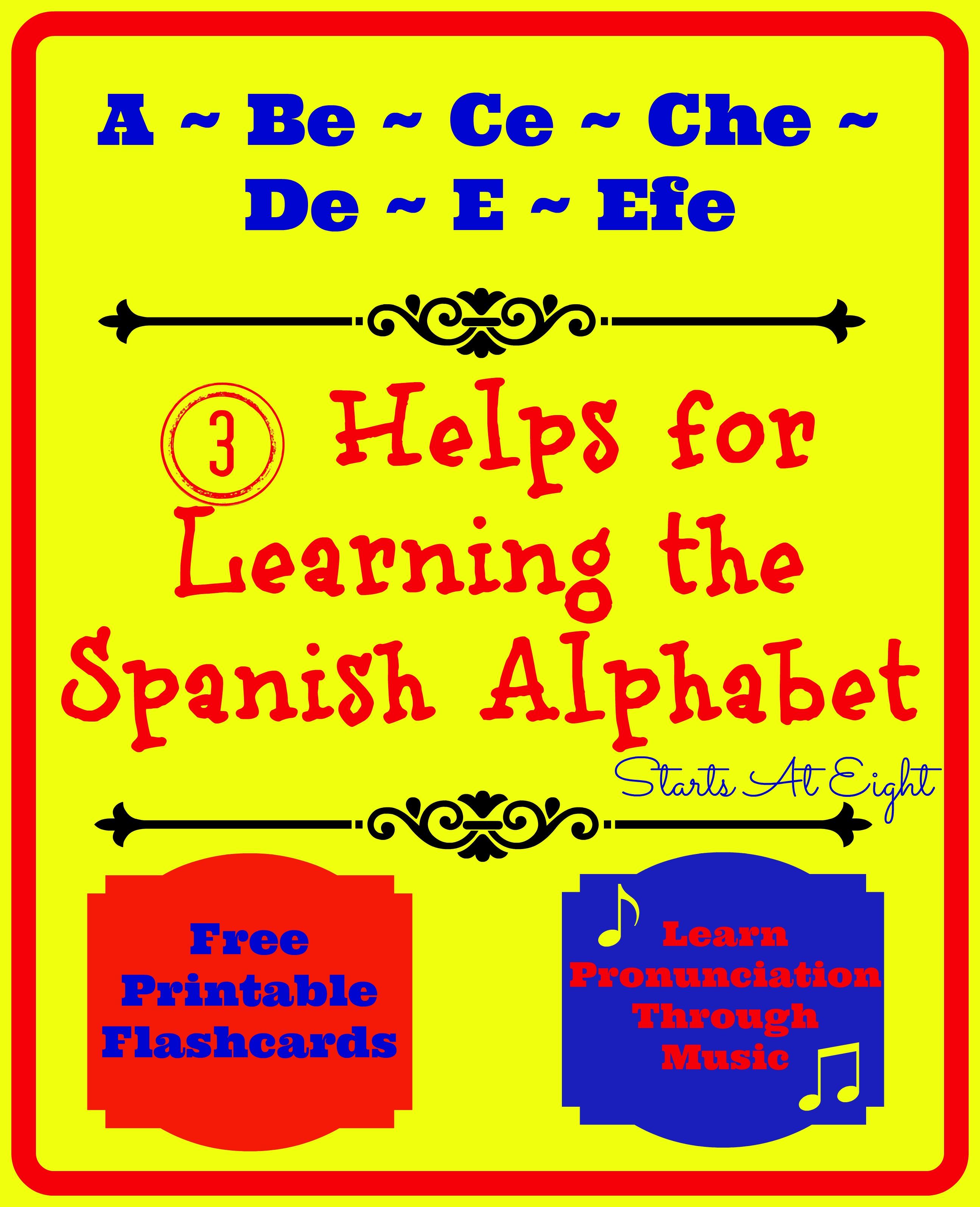 Spanish Alphabet Flashcards Free Printable
