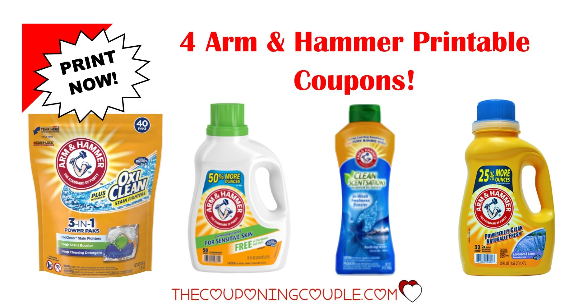 Free Printable Arm And Hammer Laundry Detergent Coupons