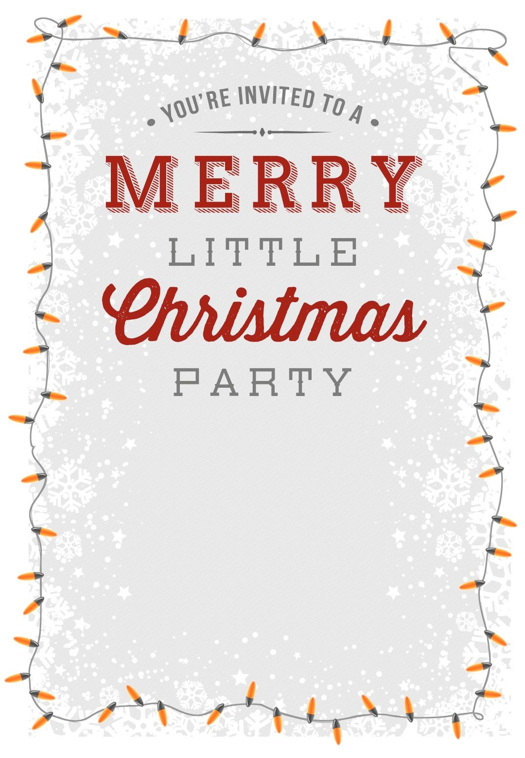 Free Online Printable Christmas Party Invitations