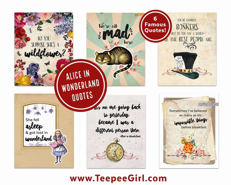 Alice In Wonderland Free Printables