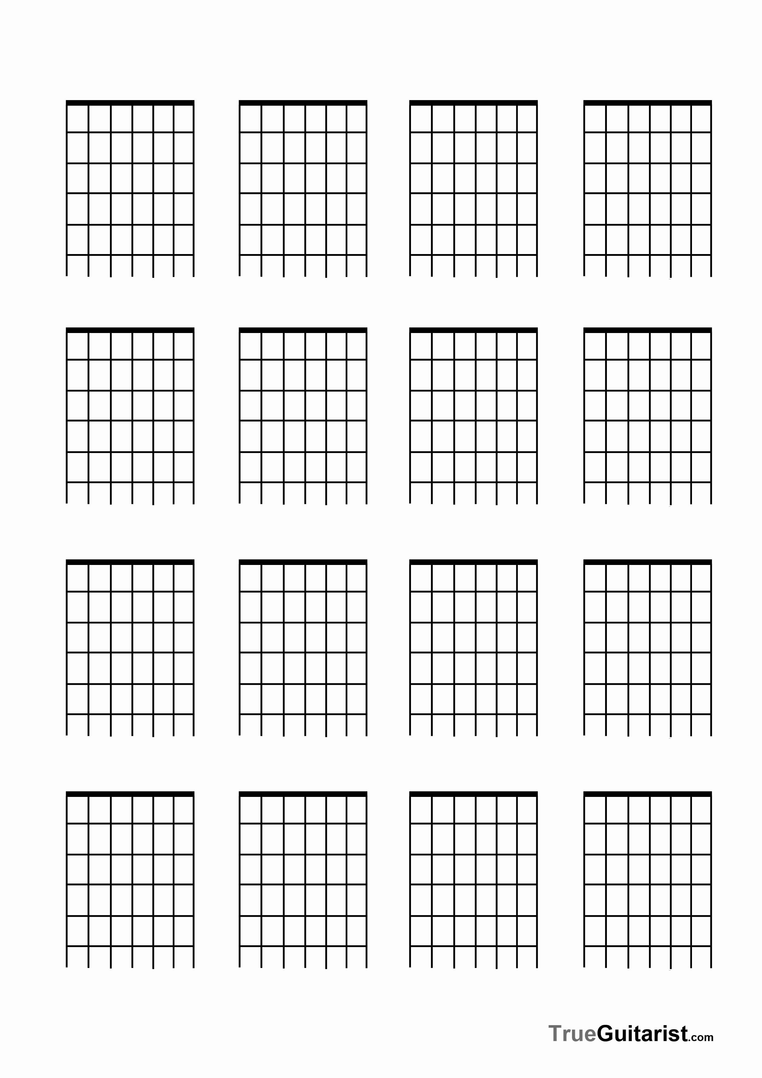 Free Printable Blank Guitar Chord Charts