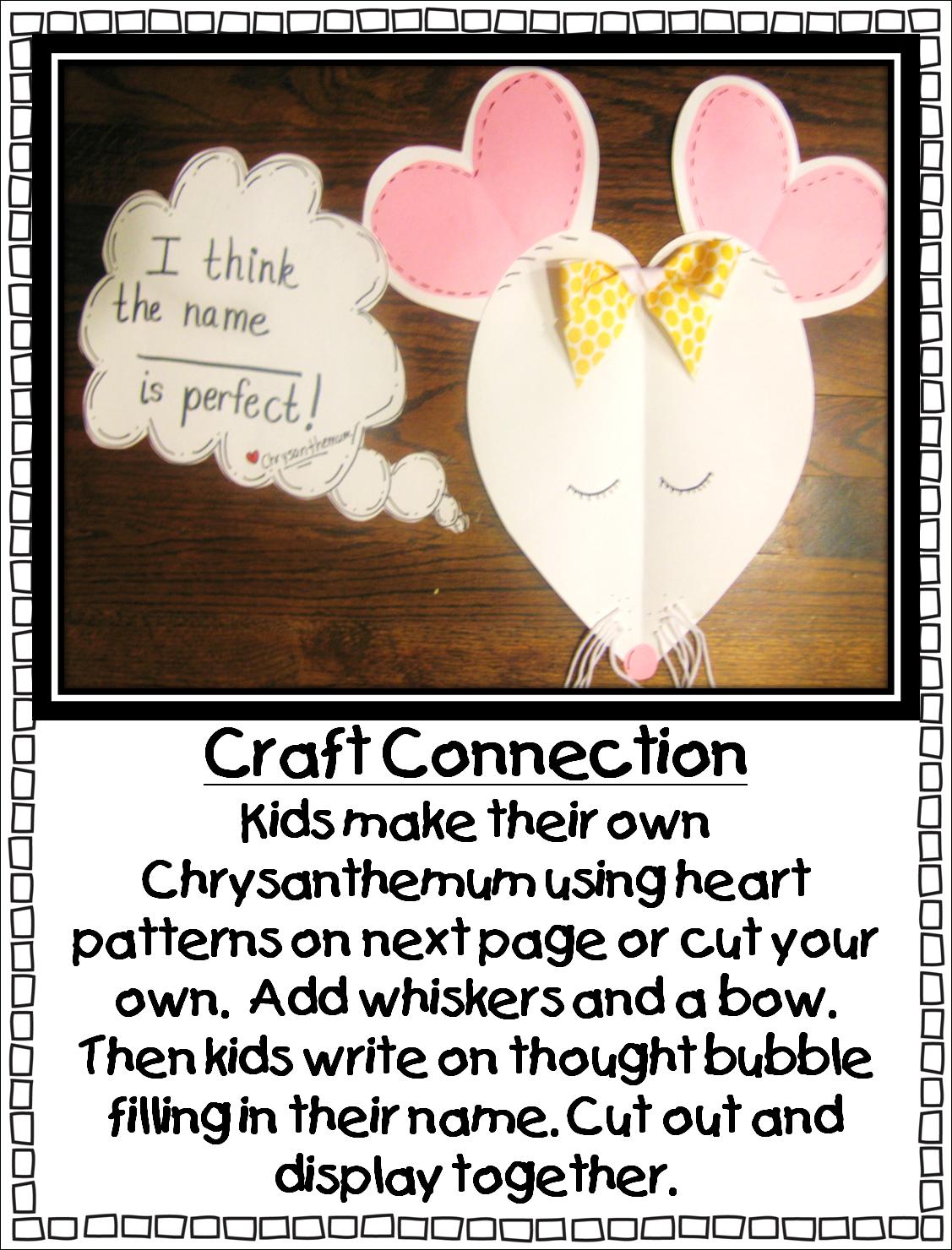 Chrysanthemum Free Printable Activities