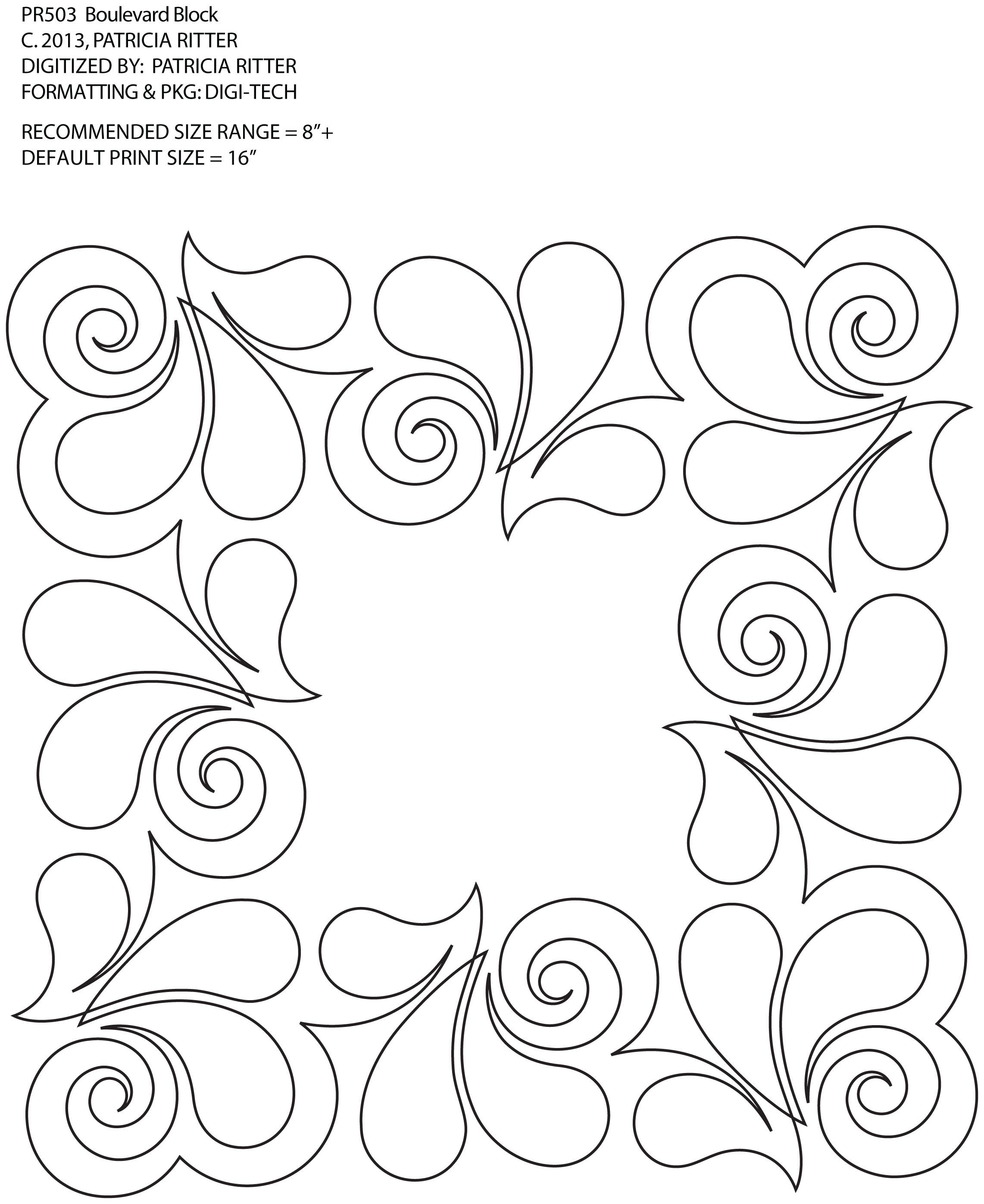 Free Printable Pantograph Quilting Patterns