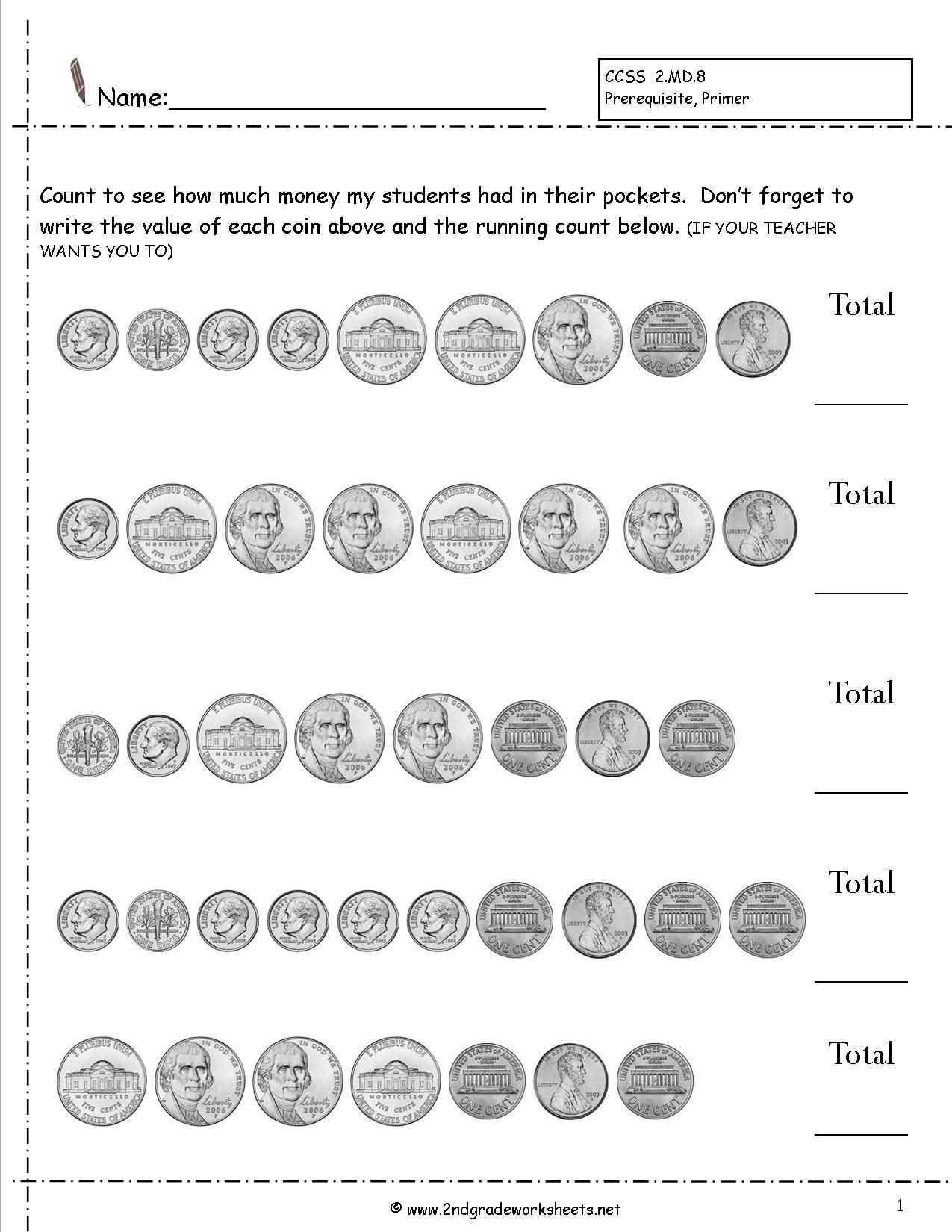 Free Printable Money Activities
