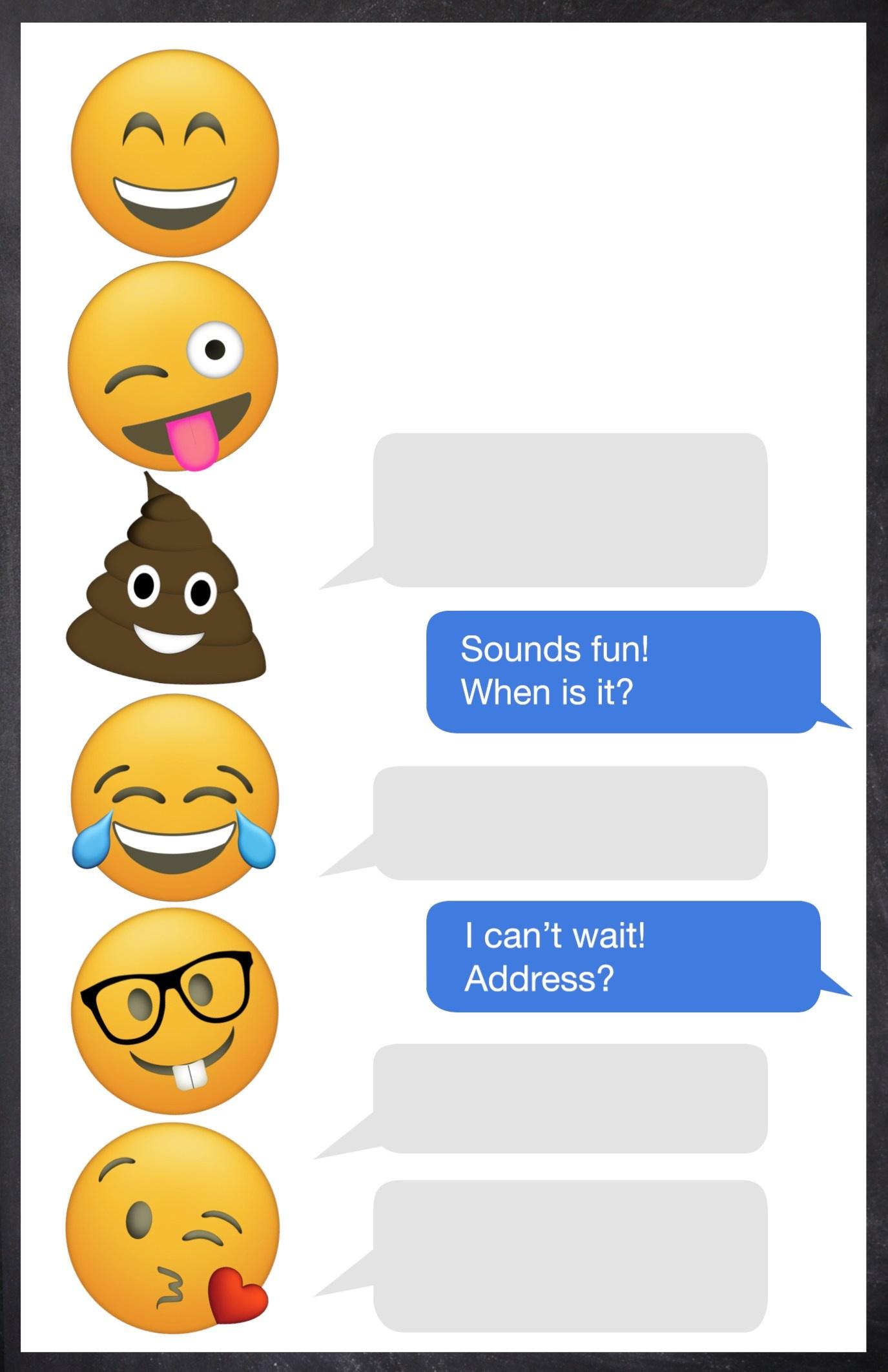 Free Emoji Party Printables