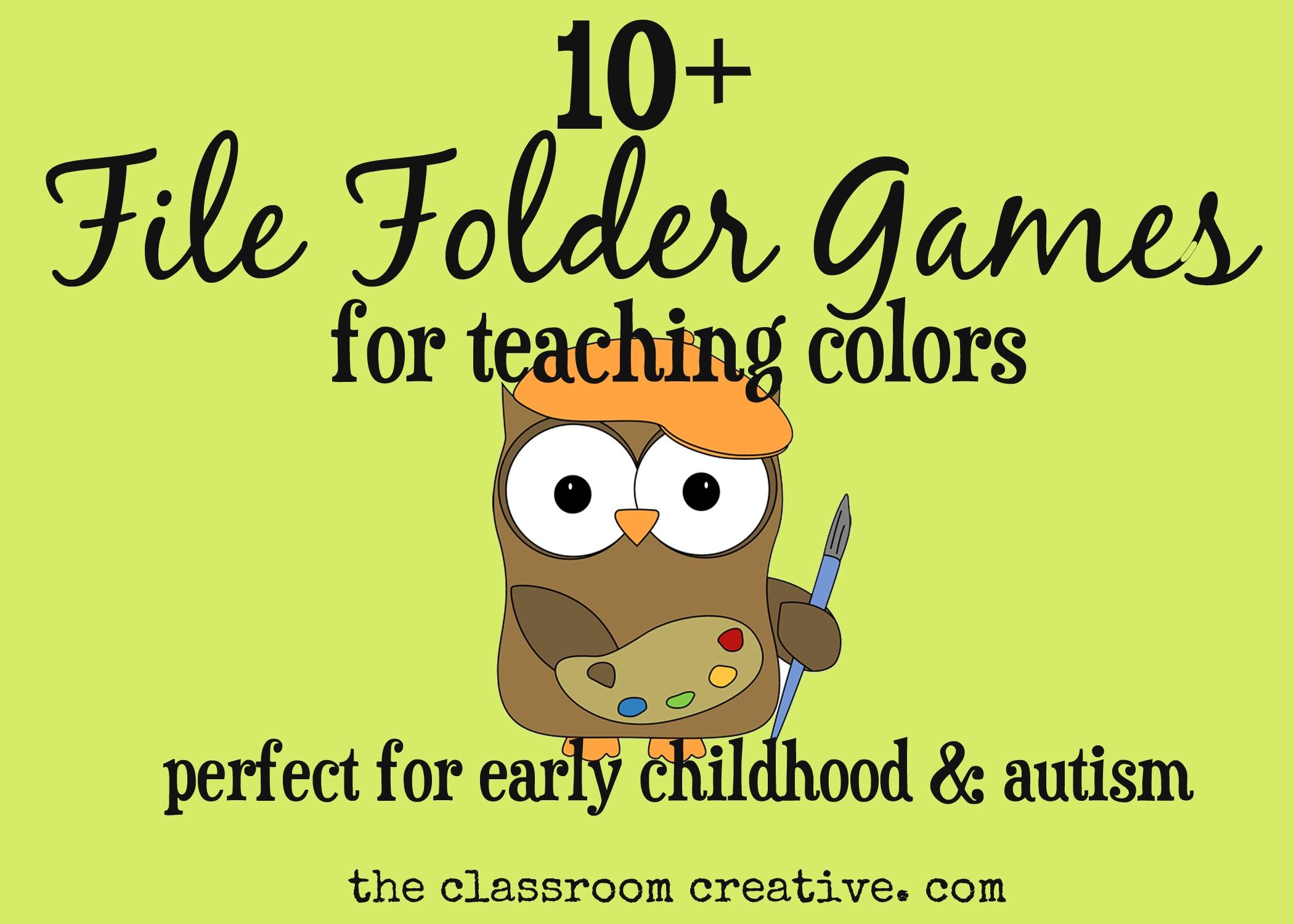 Free Printable Preschool Folder Games