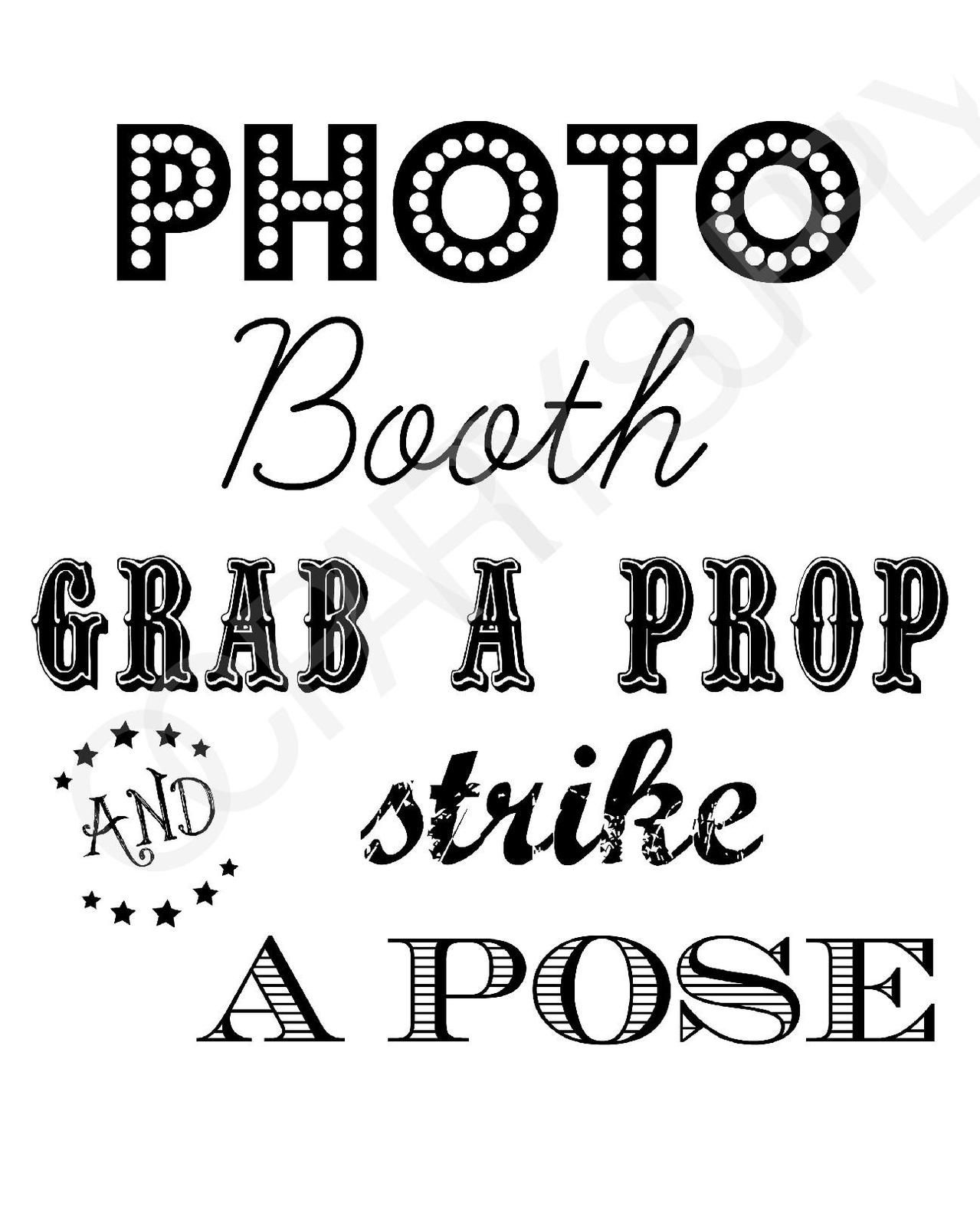 Selfie Station Free Printable