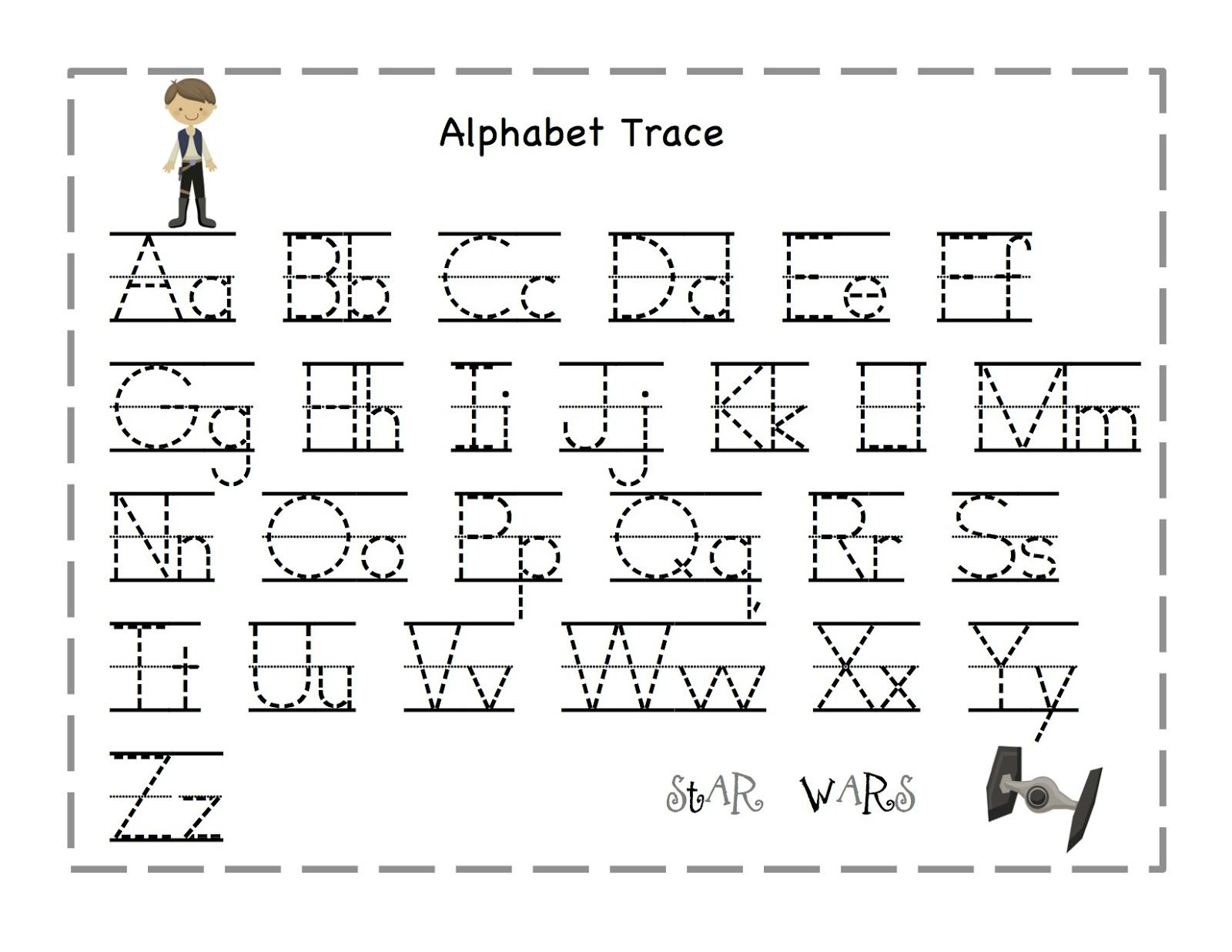 Tracing Letters A M