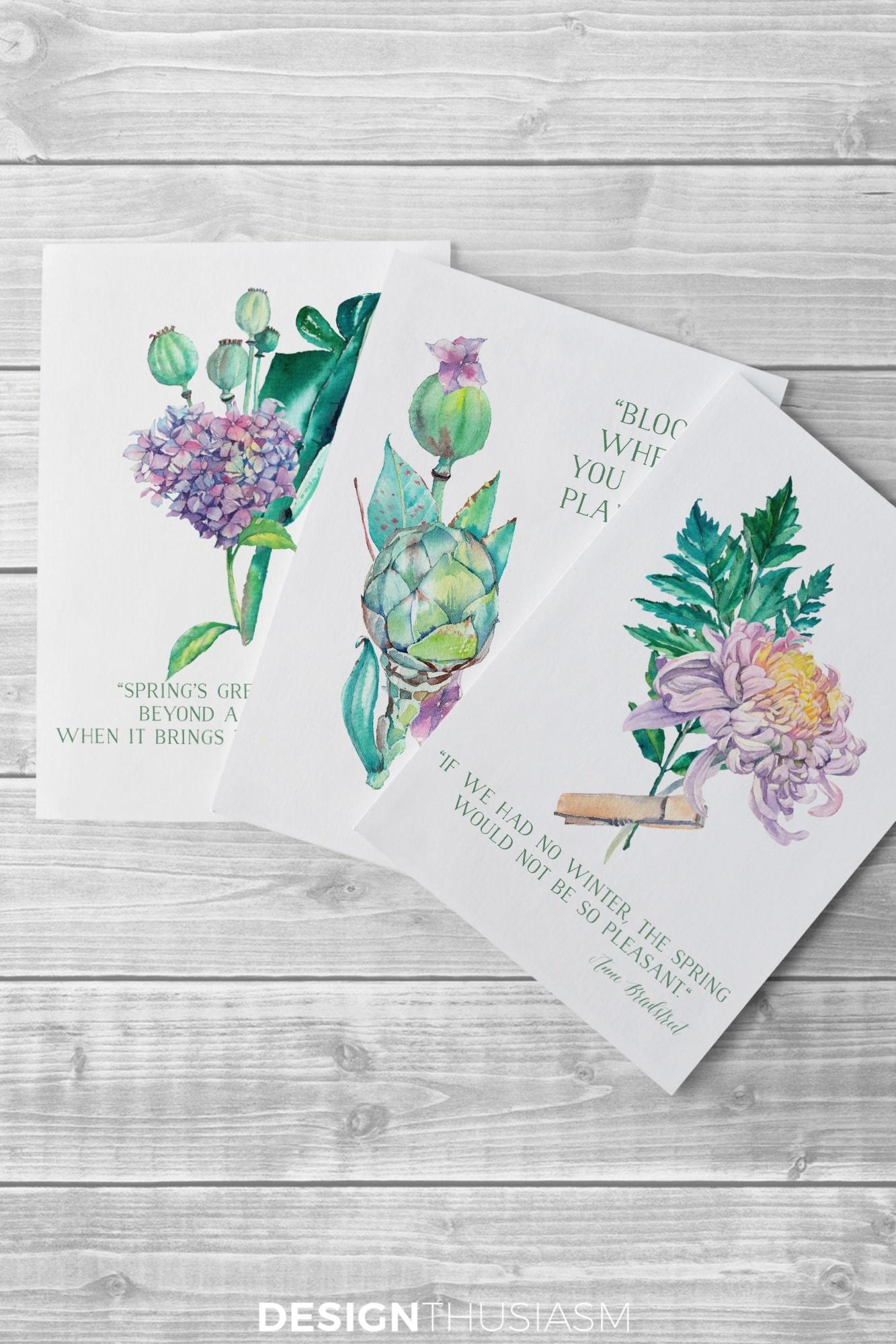 Free Watercolor Printables