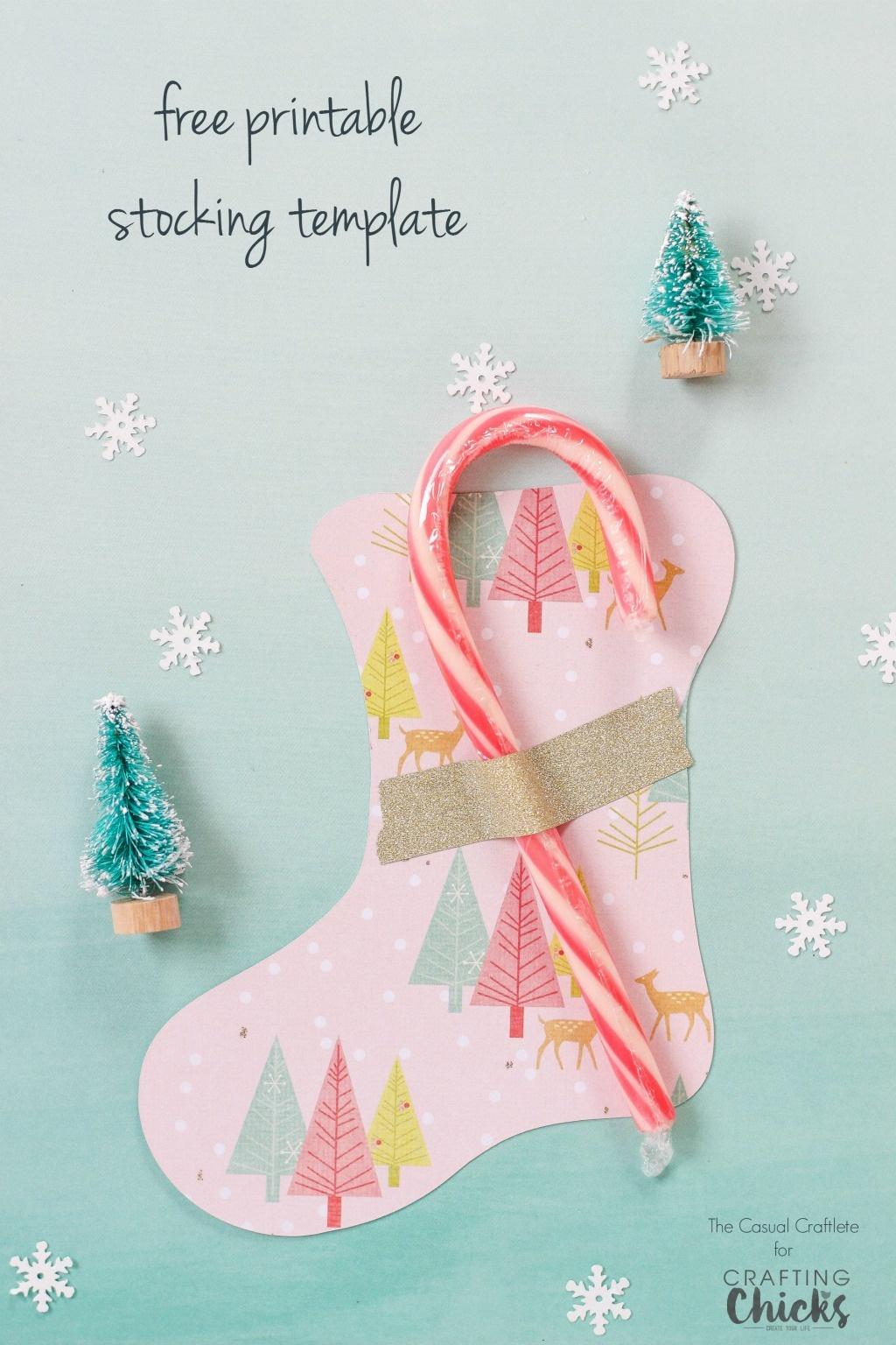 Christmas Stocking Template Printable Free