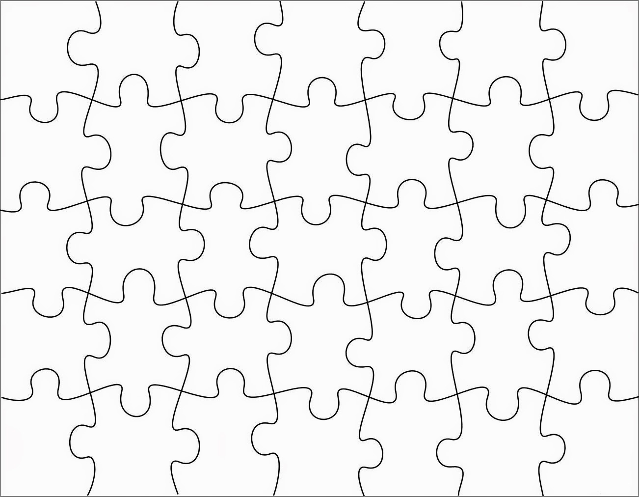 Free Printable Blank Jigsaw Puzzle Pieces
