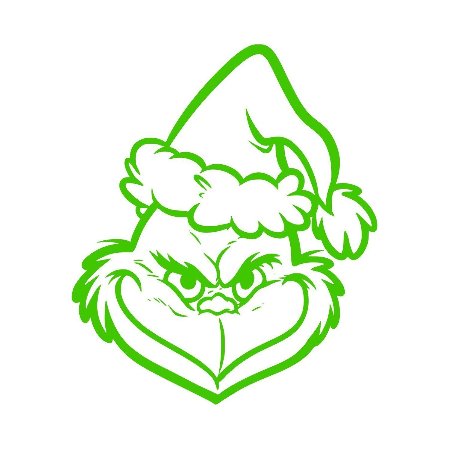 Free Printable Grinch Face Template