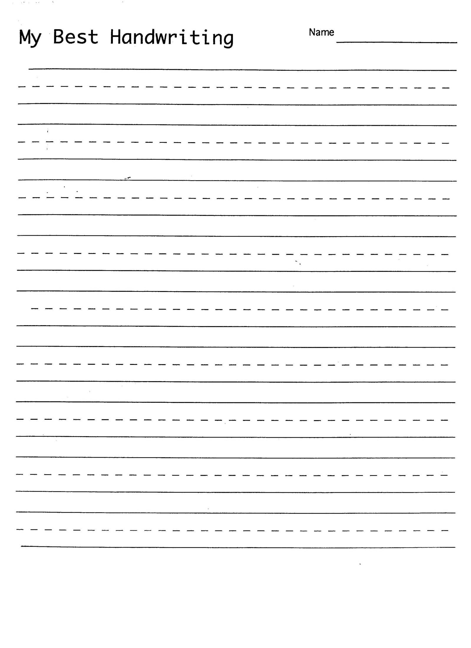 Free Printable Blank Handwriting Worksheets