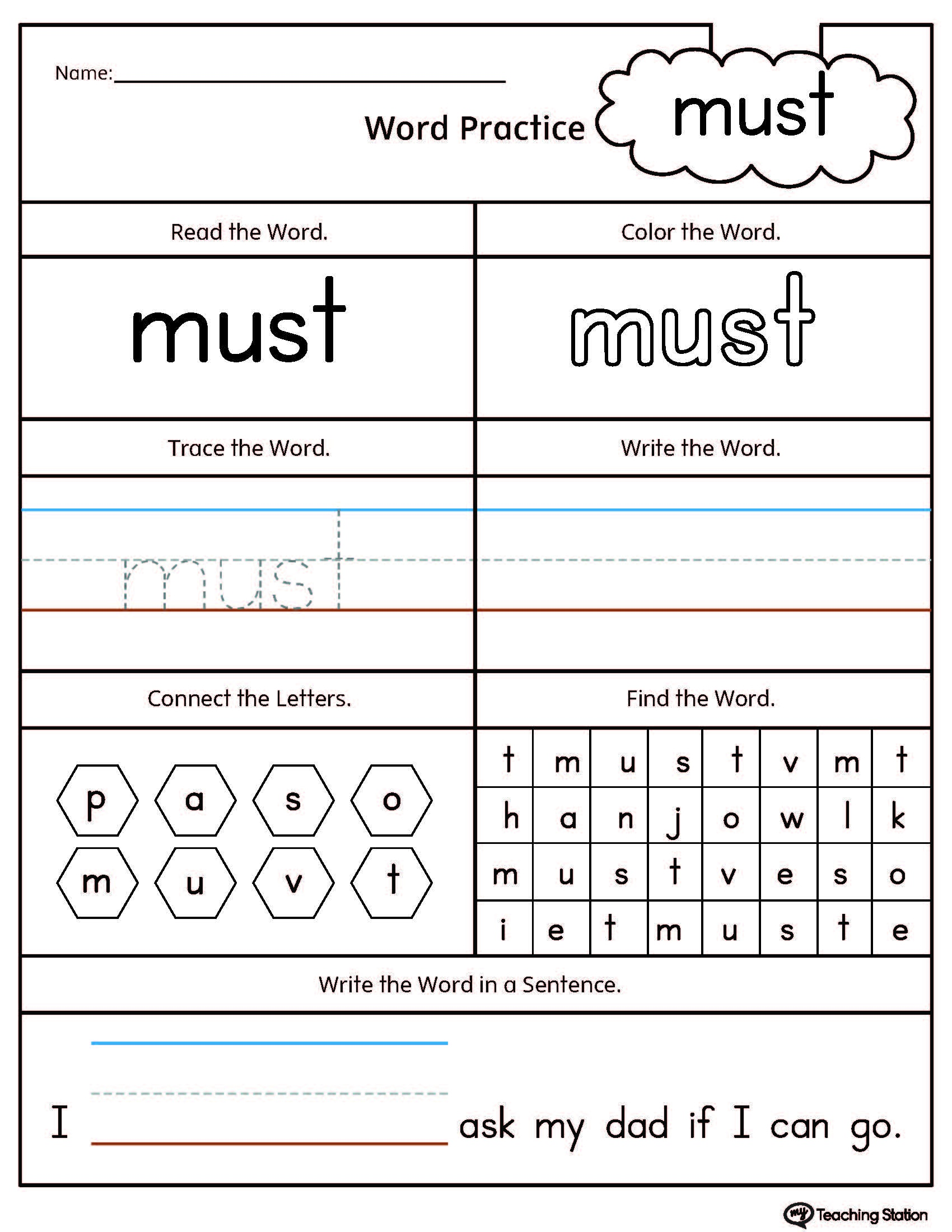 Free Printable Sight Word Reading Passages