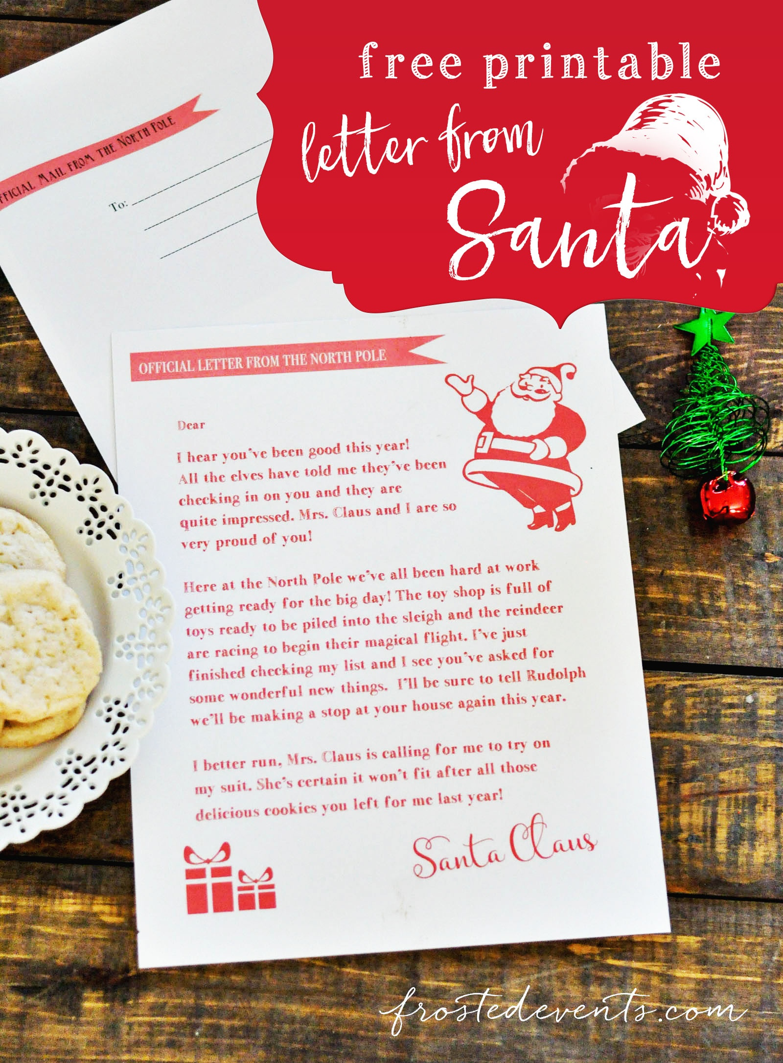 Free Printable Christmas Morning Letters From Santa