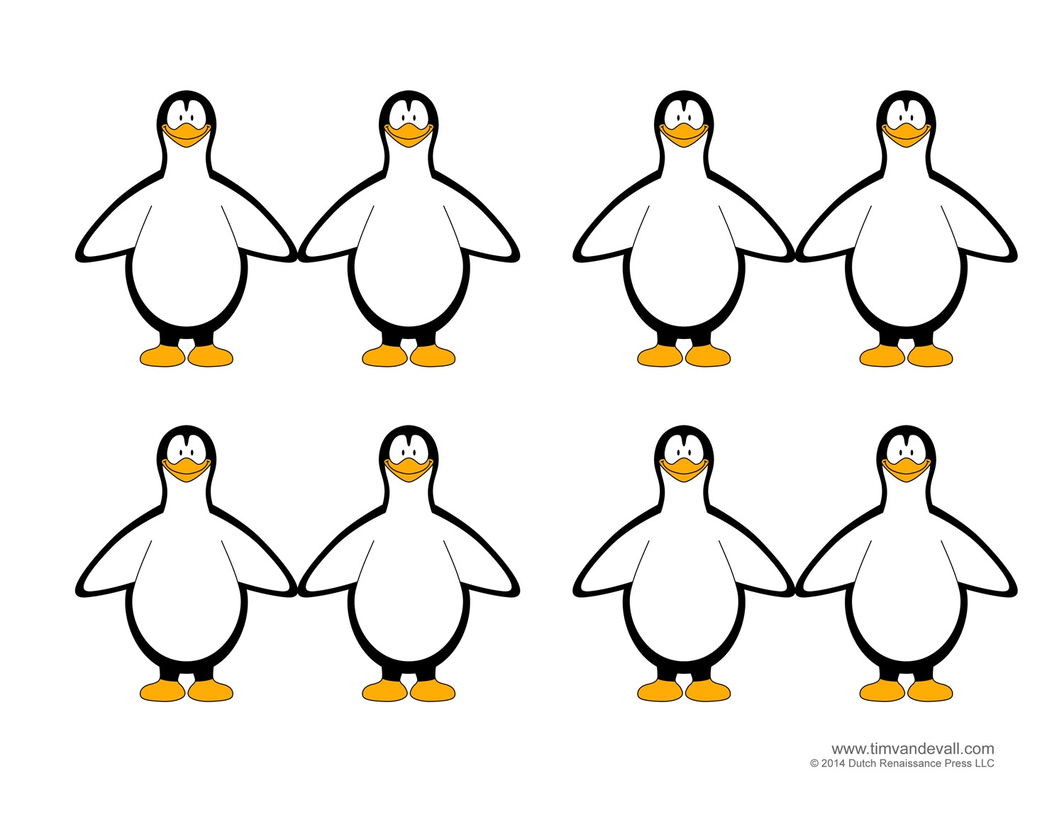 Penguin Card Template