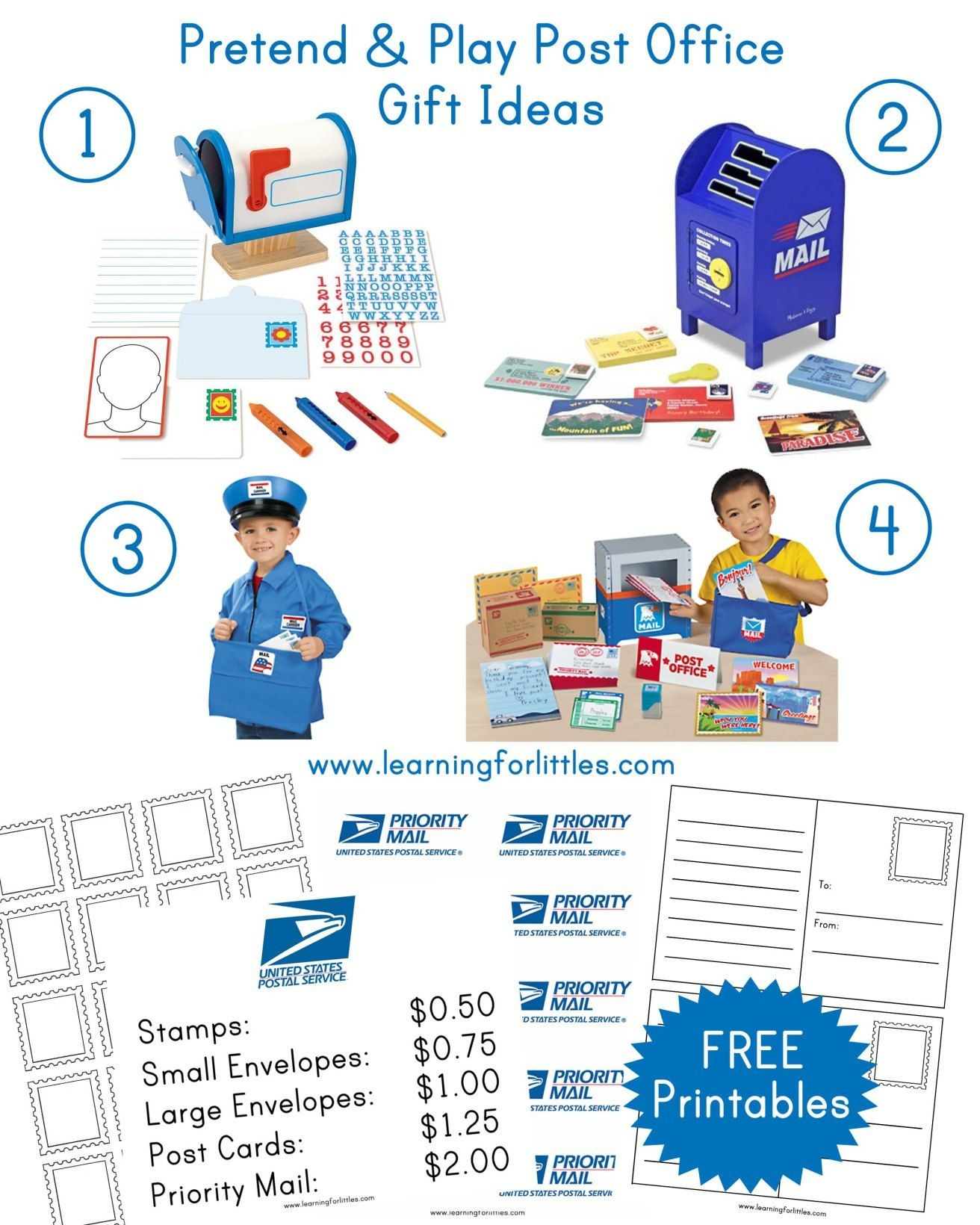Post Office Dramatic Play Free Printables