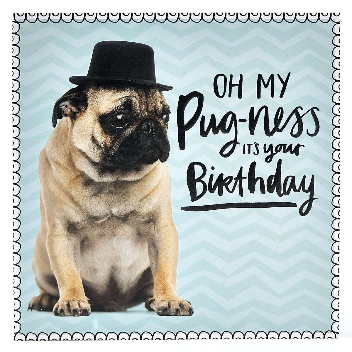 Free Printable Pug Birthday Cards