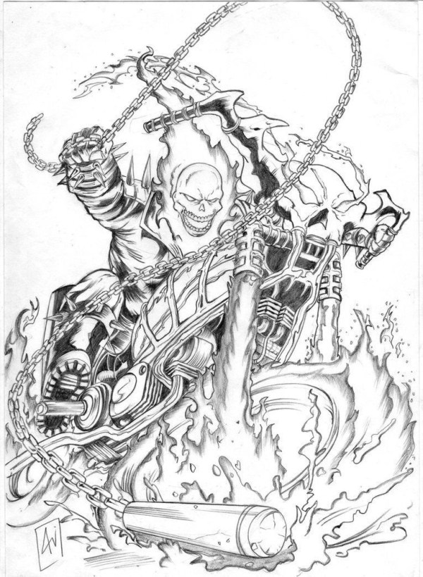 ghost rider coloring pages # 9