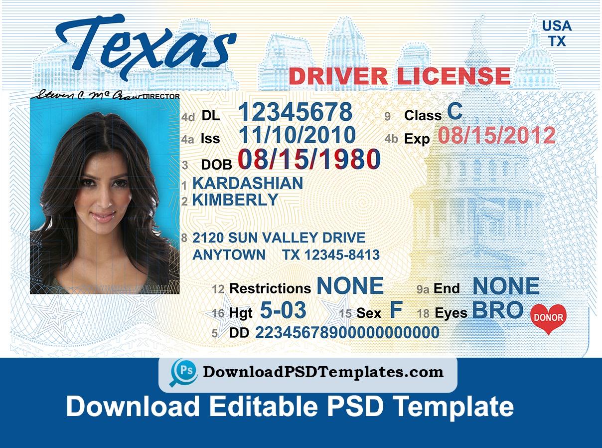 Free Printable Fake Drivers License