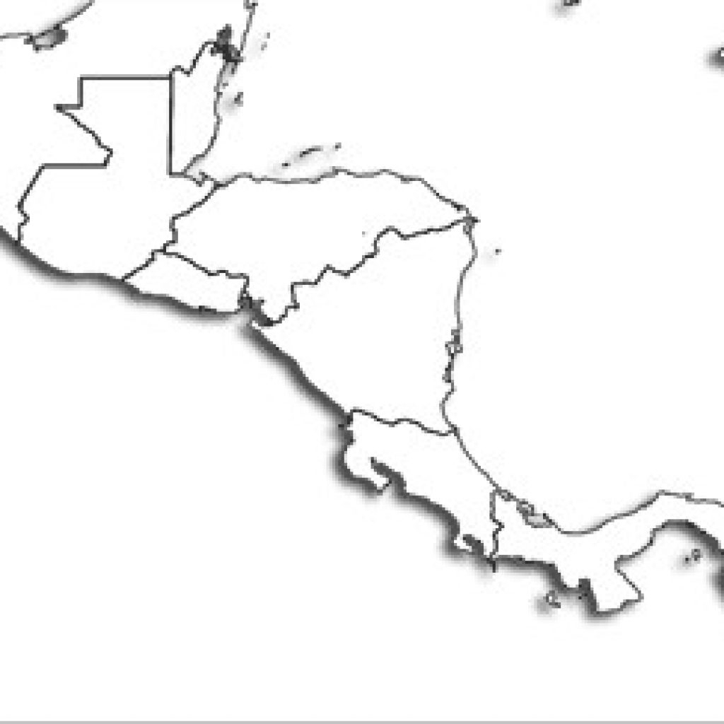 Printable Map Of Central America