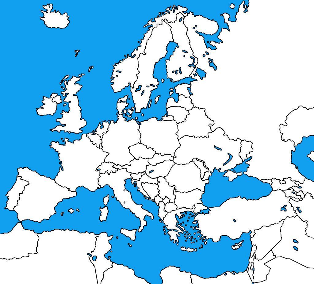 Blank Map Of Europe Printable