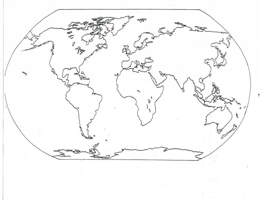 Blank Maps Of Continents And Oceans And Travel Information