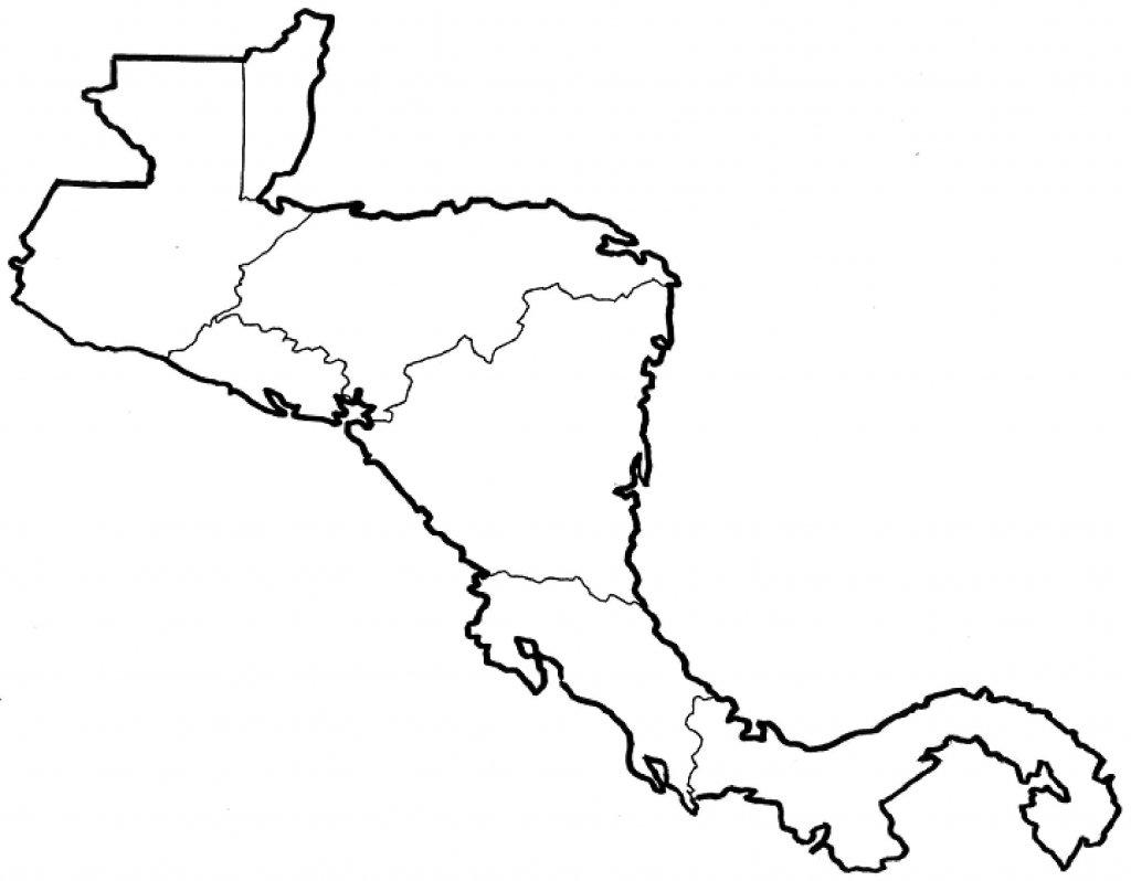 Map Worksheet Of Mexico Refrence Blank Central America And