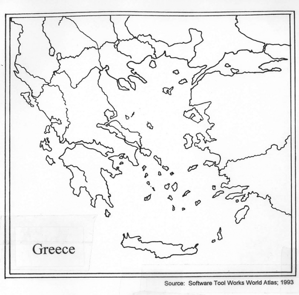 Outline Map Of Ancient Greece Printable
