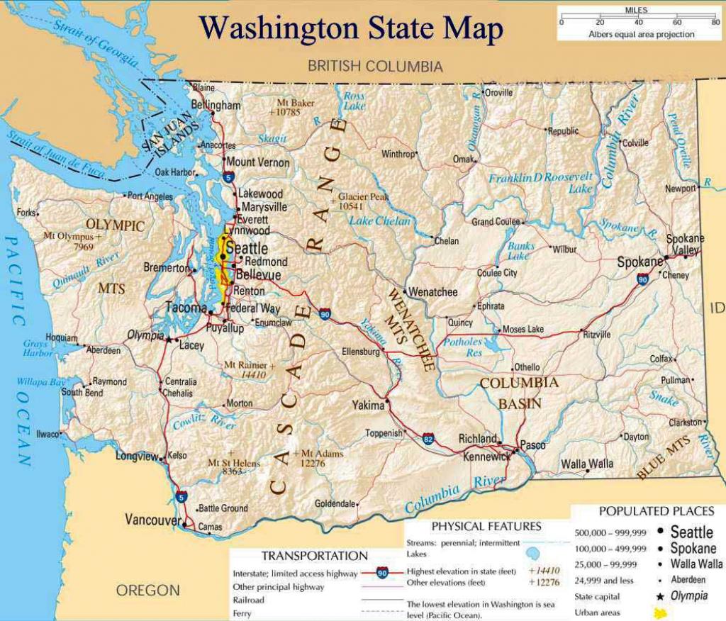 Washington State Road Map Printable