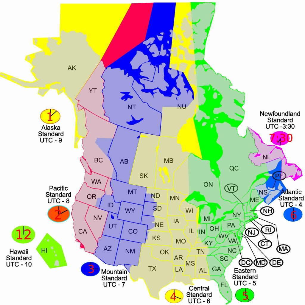 Printable Time Zone Map Us And Canada New Map Timezones In