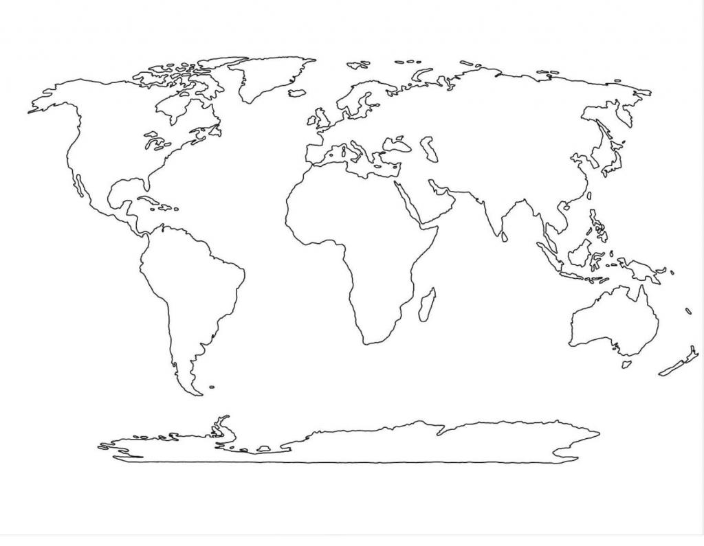 Blank World Map Worksheet Afp Cv Regarding World Map