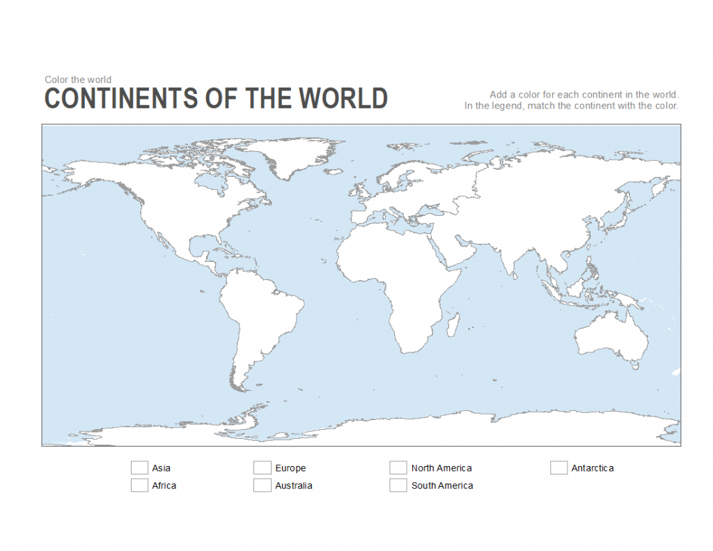 Printable Map Of American Continent