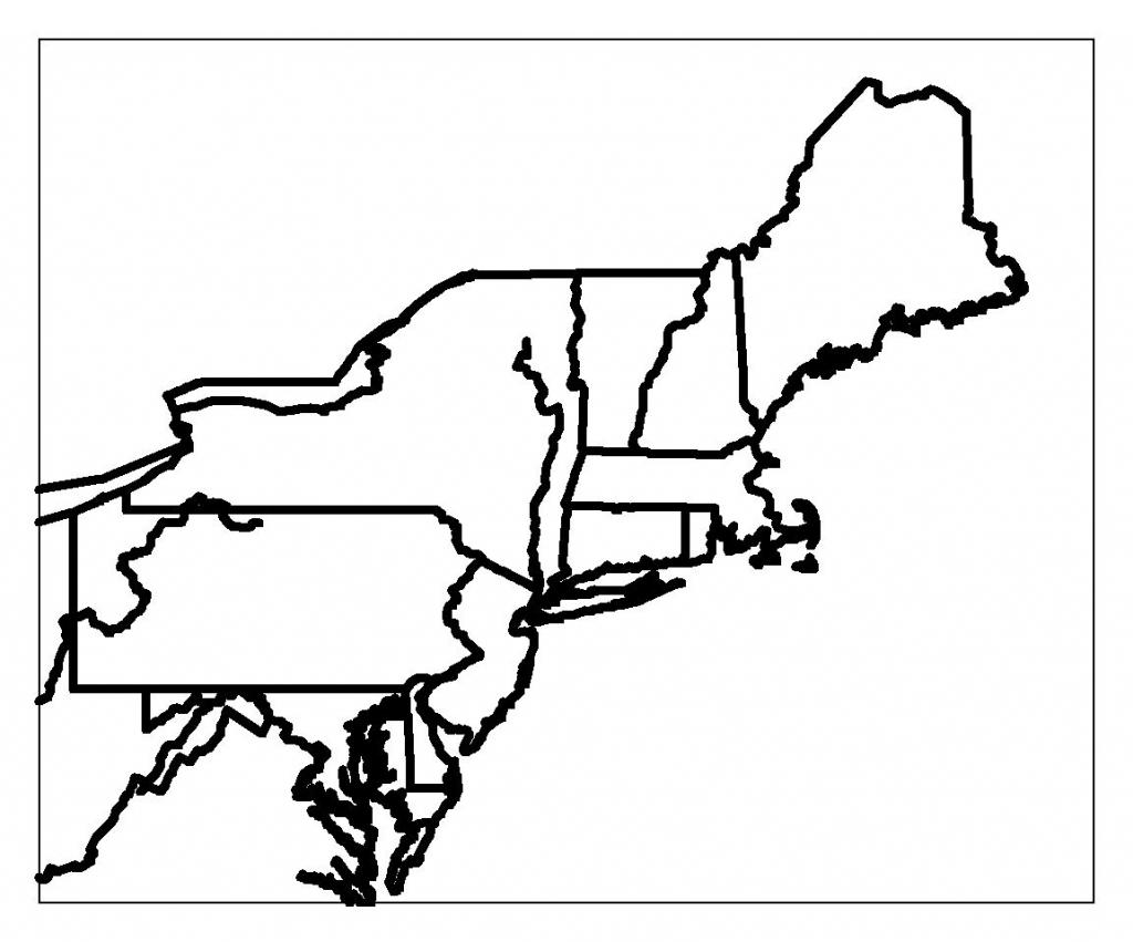 Printable Map Northeast Region Us