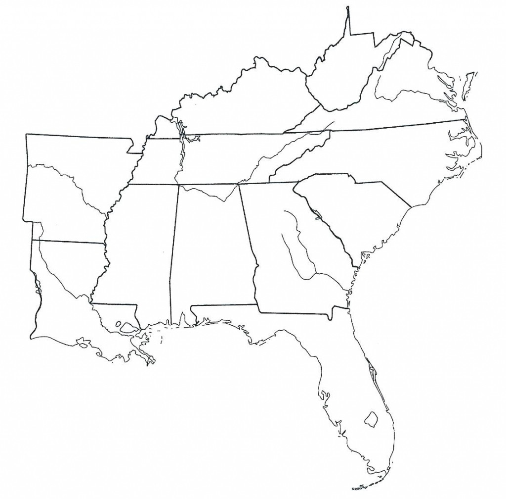 Printable Southeast Region Of The United States Map