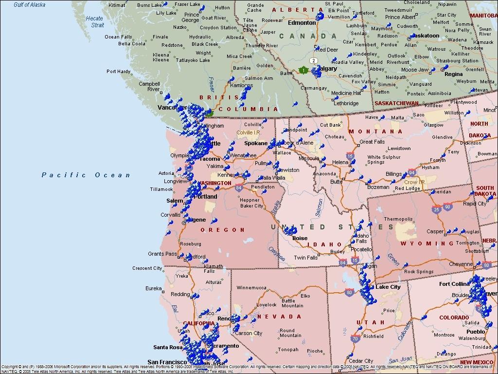 Printable Map Of Western Usa