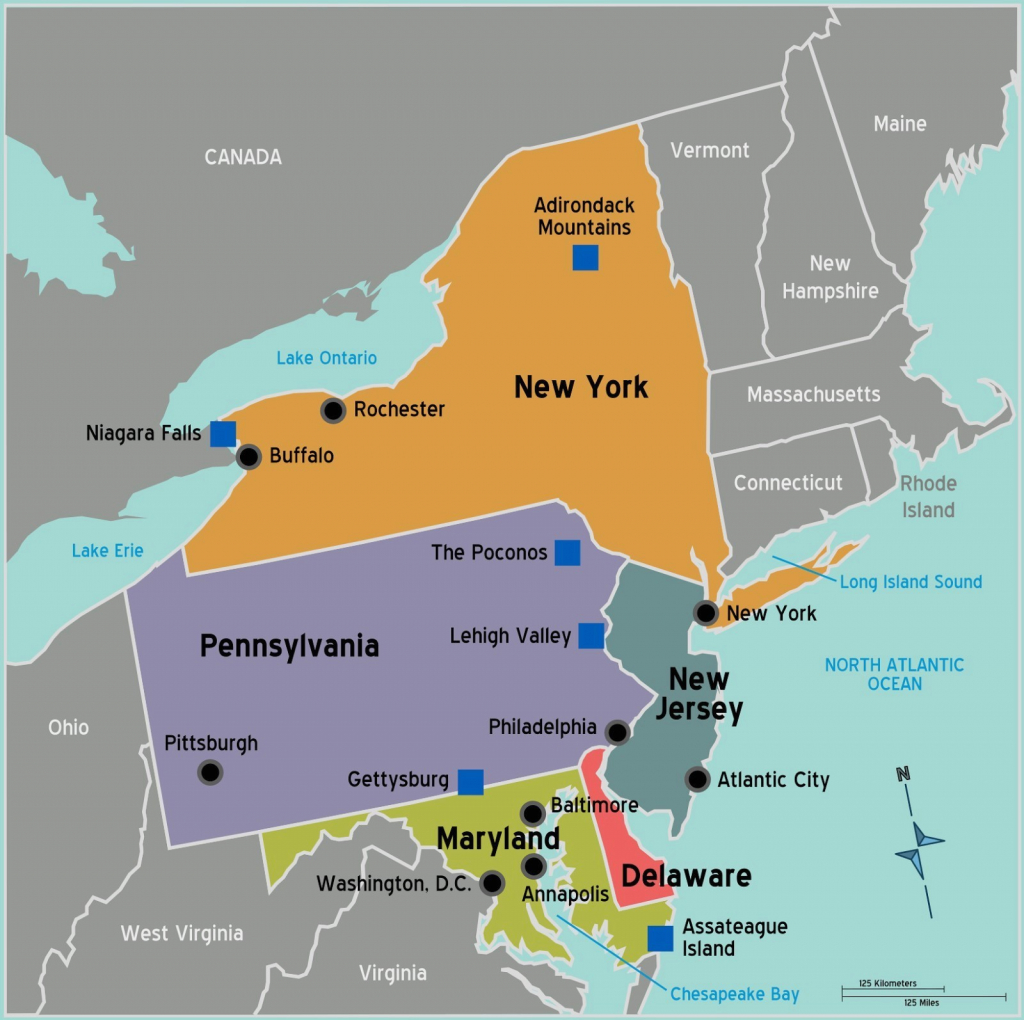 Blank Map Of Northeast States Northeastern Us Maps