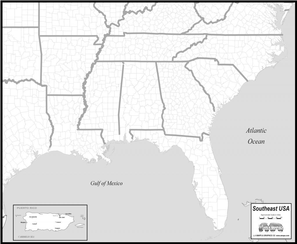 Southeast Us Elevation Map New Printable Map The